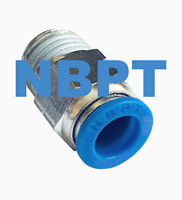 """1/4 Straight One touch Fitting PC1/4"""" Tube x 1/8"""" NPT,  Push to Connect , 10 pcs"""