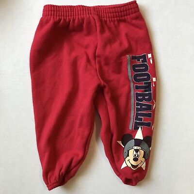 Baby Boy 12 Months Lounge or Sweat Pants Vintage Mickey Mouse Football EUC
