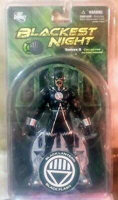 Dc Direct Blackest Night Series 8 Black Lantern Black Flash Figure New Rare