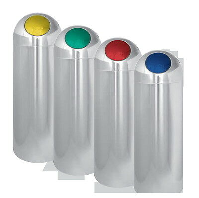 Rubbish Bin Push Cover Colourful Metal Lacquered Steel