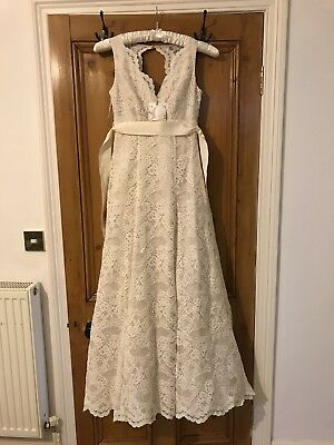 Ivory Lace Wedding Dress Size 8, Ivory Bella Bhs. Brand New