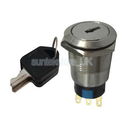 22mm Stainless Steel ON/OFF Electronic Key Switch Lock with 2 Keys 1NO+1NC