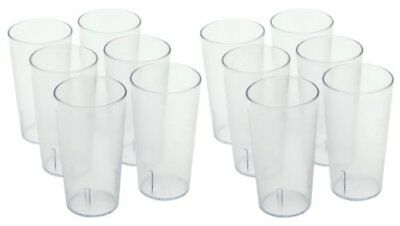 Plastic Drinking Tumbler  Set of 8 Drinkware 12 Ounce Beverage Durable Cups New