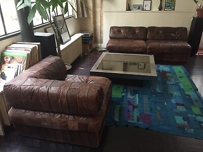 Canapé De Sede DS 88 Design 1970 Leather Sofa Authentique Brown