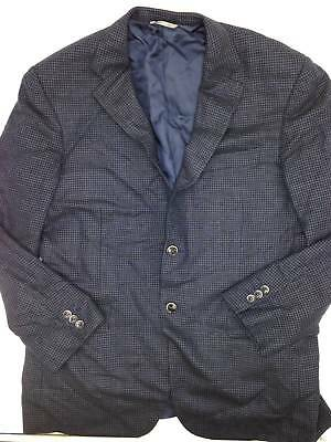 $2495 Canali Mens Classic Fit Wool Blue Blazer Jacket Sport Coat Italy Us 42r