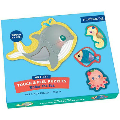 Mudpuppy Touch & Feel Puzzle - Under The Sea - Puzzles for Children