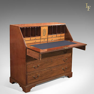 Antique Bureau, Georgian Mahogany Desk, Writing Table, English, c.1780