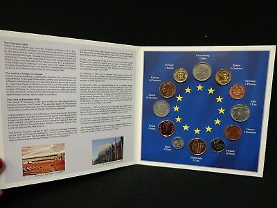 Euro-Zone Countries Collection Of The Last National Coins 12 Coin BU Set
