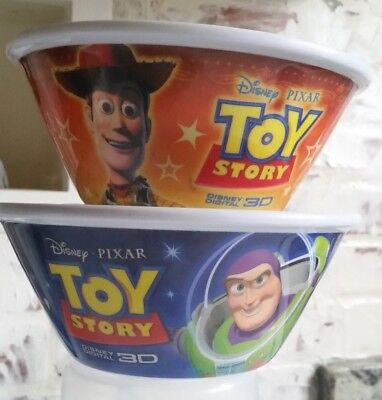 Vintage Kelloggs Cereal Bowls Toy Story Buzz Lightyear & Woodie