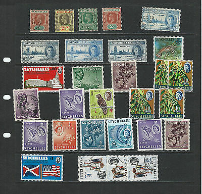 British Colonies-Seychelles-Small Collection-Mixed Periods