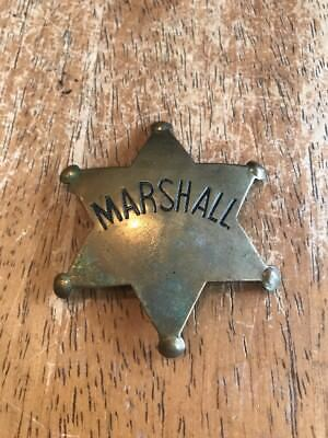 Vintage Marshall Badge/Star, Brass, Double L Spelling