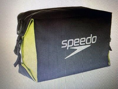 Speedo Pool Side Bag Grey/Black - For Goggles/Swimsuits/Shorts/Toiletries