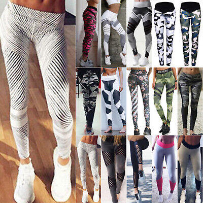Damen Leggings Stretch Sporthose Laufhose Fitness YOGA Gym Sport Jogging Leggins