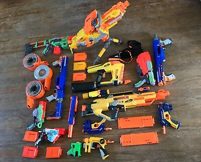 Nerf Gun Lot- Gently Used 13 Guns + Accessories!