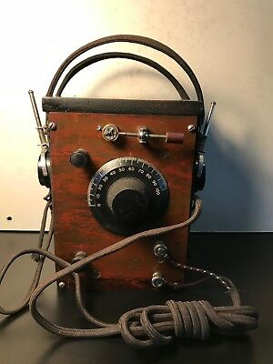 Old Crystal Radio w/ Ear Phones-  Radio / crystal