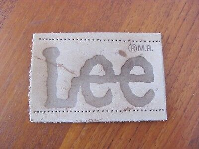 Vintage Lee Jeans Leather Patch