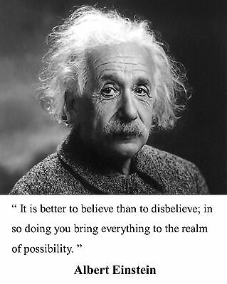 Albert Einstein Famous Quote Motivational Inspirational 8 x 10 Photo Picture