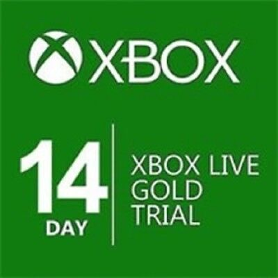 14 DAY XBOX LIVE GOLD TRIAL MEMBERSHIP CODE (2 WEEKS) (Xbox One/360)