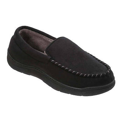 Dearfoams Mens Moccasin Comfort Slippers With Memory Foam Insole In 2 Colours Picclick Uk