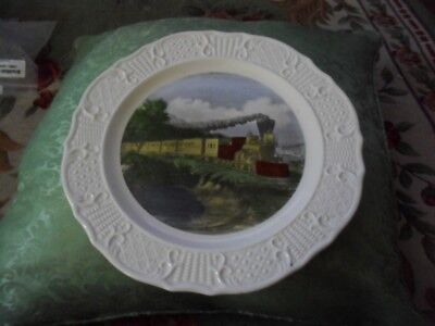 Vintage American Express Train Plate Train Collectible Currier & Ives New Plate