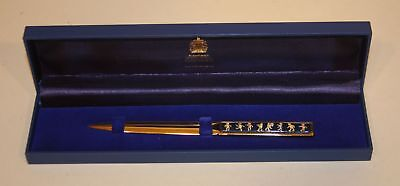 Halcyon Days Enamels 8 Antique Teddy Bears on Handle Letter Opener in Case