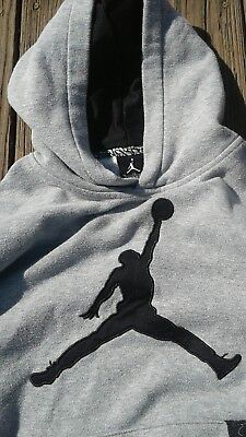 Nike Air Jordan Boys Hoodie Sweatshirt Size Youth X Large /13-15 YO/ Grey