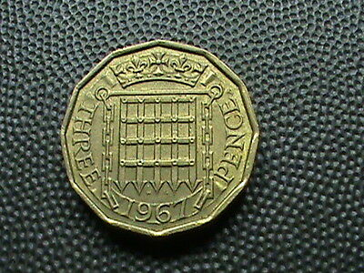 GREAT  BRITAIN    3  Pence    1967   ,    $ 2.99  maximum  shipping  in  USA