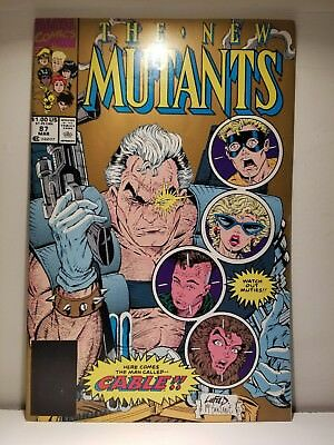 NEW MUTANTS 87 Comic / 1st App CABLE / 2nd PRINT VARIANT / High Grade