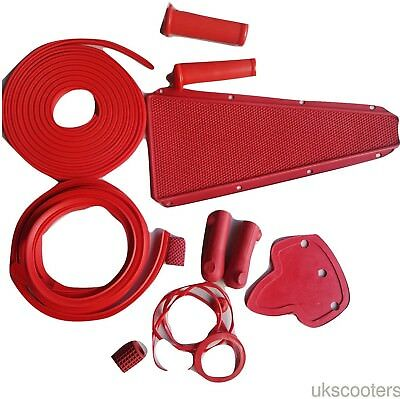 ukscooters VESPA OFF RED BODY RUBBER KIT VBB SPRINT VLB KIT NEW