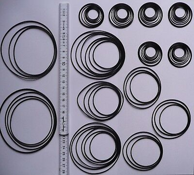 80 x Rundriemen-Sortiment für Tapedecks und CD-Player rubber belt assortment kit