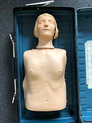 Laerdal Resusci Anne Torso CPR Adult Manikin First Aid Trainer w/ Case