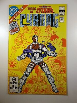 Tales of The New Teen Titans #1 W/Cyborg!! VF Condition!!