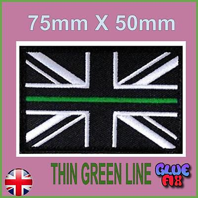 Thin Green Line Ambulance Service Union Jack Velcro® backed patch UK