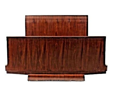 French Art Deco Mahogany Full/Queen Size Bed