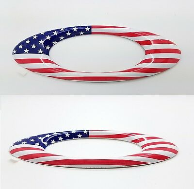"New Oakley 5"" Metal USA Flag Icon Raised Aluminum Sticker Decal Rare FREE SHIPNG"