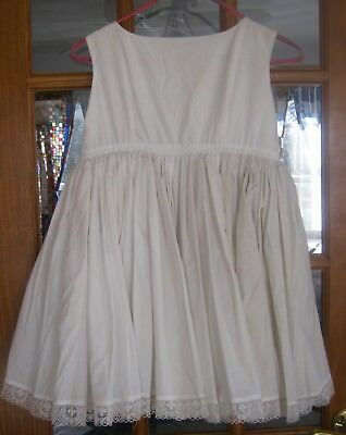 Vintage slip for a child, simple top, 2 layers of gathered skirts with lace