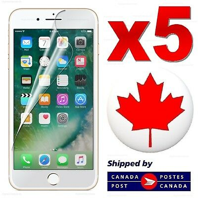 Clear Transparent Film Screen Protector For iPhone X 8 7 6 6S Plus 5 5S SE 4S 4