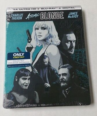 Atomic Blonde 4K Blu-Ray Exclusive Steelbook - NEW SEALED