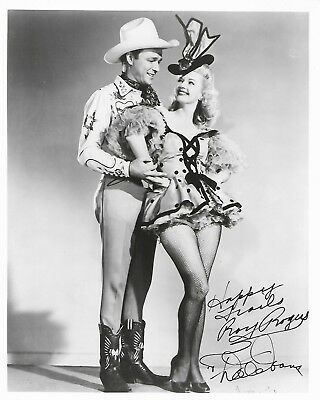 Hand signed autographs by Roy Rogers and Dale Evans with COA