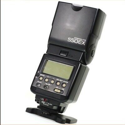 Canon Speedlite 550EX Shoe Mount Flash with case and manual