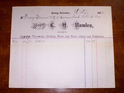 1878 Letter Ouray Mineral City & Animas Fork Toll Road Company Colorado O. Mears