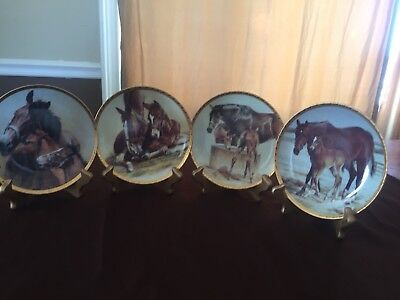 Fred Stone Collector Plate- Horses Of Fred Stone Series-Coa