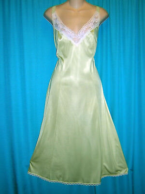 *wonderful Green Vintage Maidenform Nylon Full Slip**40**lingerie