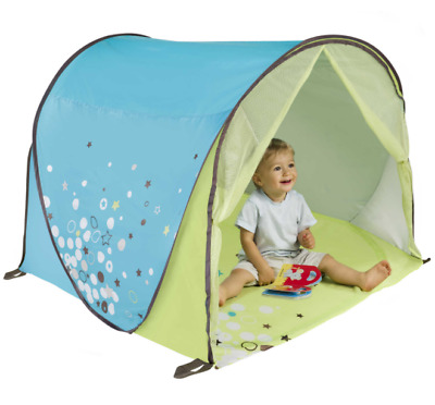 Baby Moov Anti-UV Tent Green-Blue Mosquito Net Outdoor Pop-Up System Beach Park