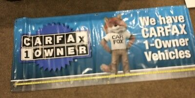 Carfax 1 Owner Premium Sign Hanging flag 6.5ft Feather Banner.