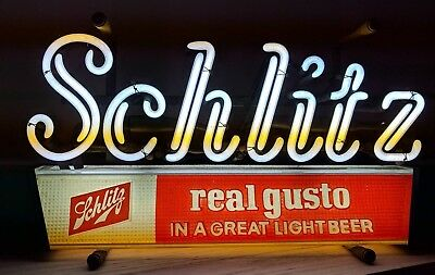 Schlitz Neon Sign - Vintage, Brand New Transformer Beer Sign