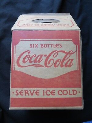 Rare Coca Cola Soda Pop Advertising Card Board Storage / Carrying Box 1930s