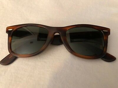 Vintage Bausch and Lomb B&L 5022 Wayfarer Glasses Tortoise Shell Made in USA