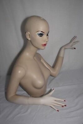 Vintage Female Mannequin Chest Head Arms & Hands