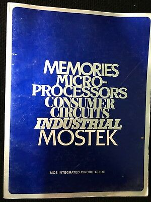 Mostek Memories Microprocessors Consumer Circuits, Vintage Computer Data